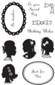 Woodware - Elegant Cameos - Clear Magic Stamp Set - FRCL168